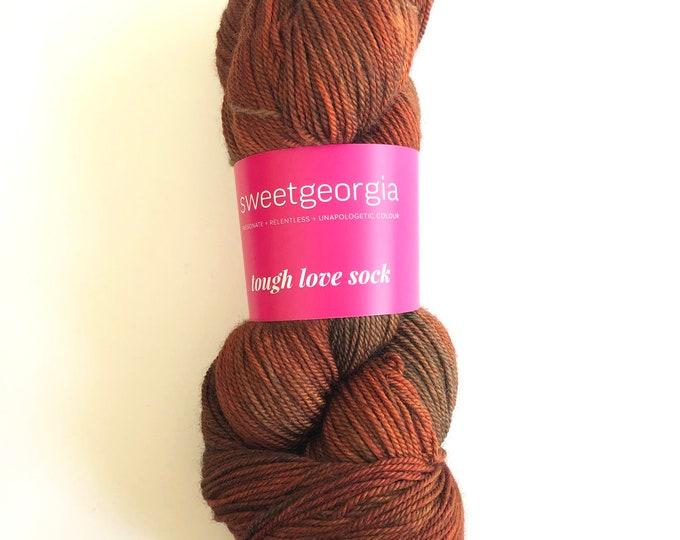 Orange Merino Wool Yarn, Fingerling Sock Yarn, Tough Love Sock Yarn, hand painted yarn, merino wool, SweetGeorgia Yarns, orange, yarn