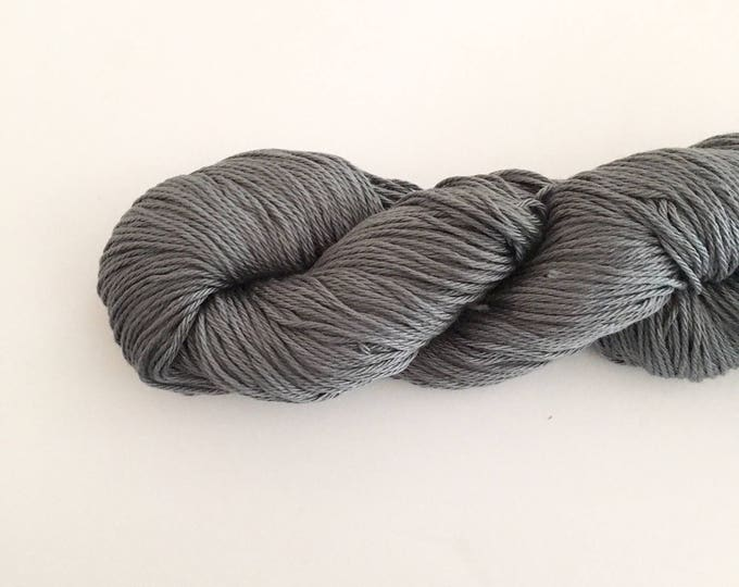Gray Cotton Yarn DK weight, SALE, Egyptian cotton yarn, cotton yarn, knitting yarn, crochet yarn, craft yarn, dark gray yarn, cotton