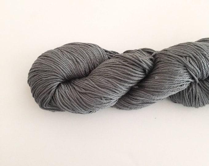 Gray Cotton Yarn DK weight, SALE, Egyptian cotton yarn, cotton yarn, knitting yarn, crochet yarn, craft yarn, dark gray yarn, cotton