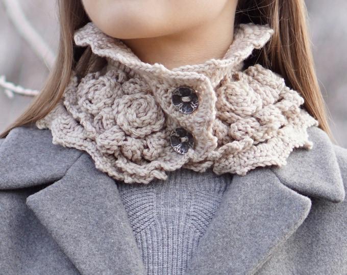 Rose Scarf Crochet Pattern: Elegant Rose Scarf crochet pattern, rose scarf pattern, crochet pattern