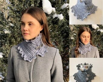 Victorian Essence Scarf Crochet pattern, crochet scarf pattern, neck warmer pattern, scarf pattern, crochet scarf pattern, scarf