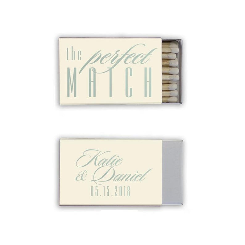 Custom Party Favors Matches Personalized Wedding Favors Modern Design 50+ Perfect Match Wedding Matchboxes