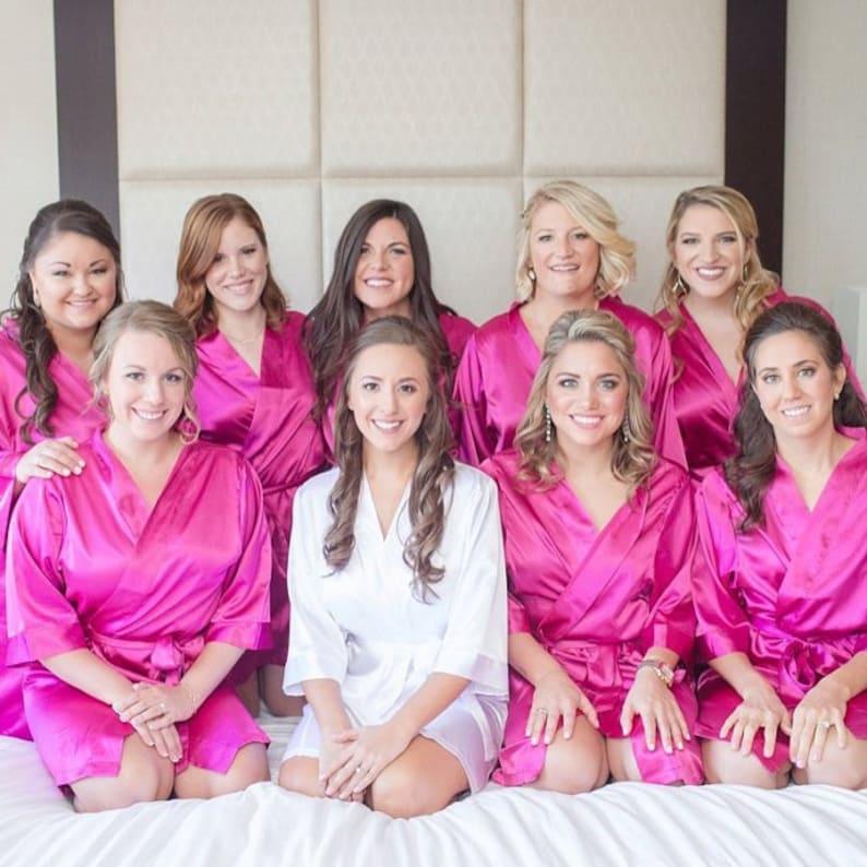376251ec29 Bridal Satin Robes Bridesmaid Gifts Monogrammed Bride Robe