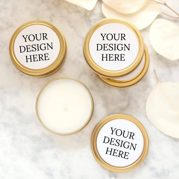 Wedding Party Gifts Canada: Items Similar To YOUR DESIGN HERE Wedding Favors, Gold Tin