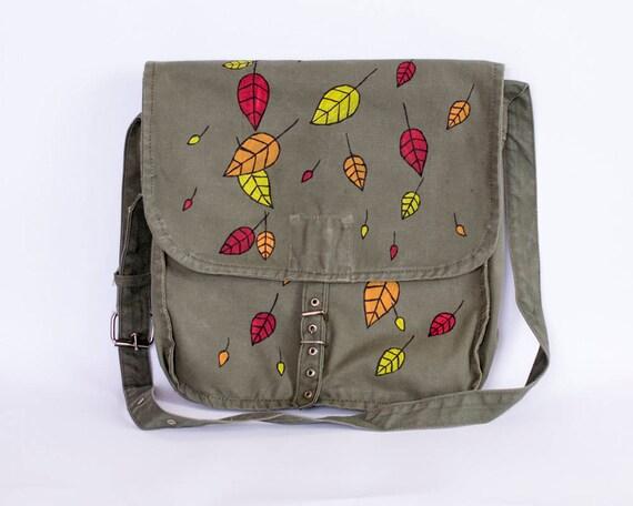 Fall Leaves Messenger Bag
