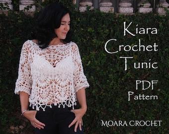 Crochet Top Pattern   Crochet Tunic Pdf   Crochet Boho Tunic   Easy Crochet Pattern    Crochet Sweater   Crochet Pattern    Crochet Top