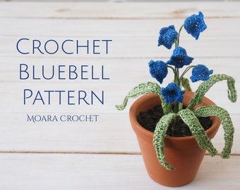 Crochet Bluebell Flower Pattern - Easy step by step crochet flower pattern with photos.
