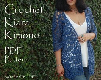 Kiara Crochet Kimono   Crochet Cardigan   Kimono Pattern   Crochet Coat Pattern   Crochet Pattern   Crochet   Crochet Jacket   Coat Pattern