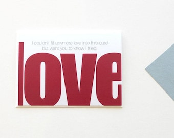 Love Card, Anniversary Card, Valentine Card, For My Son, Grandparents Card, Just Because Card, To My Daughter, Couples Card, Husband  - 151C