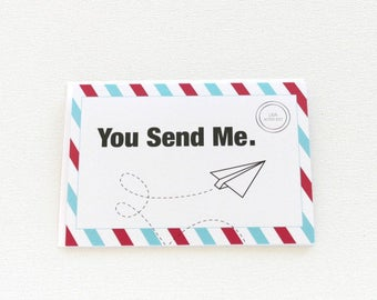 Miss You Card, Long Distance Relationship Card, Sending Love Card, Thinking of You, Hello Card, Husband Love Card, Just Because Card - 161C