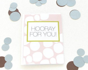 Congratulations Card, College Graduation Card, Hooray Card, New Job Card, Pregnancy Congrats, New Baby Card, Adoption Card, Promotion - 157C