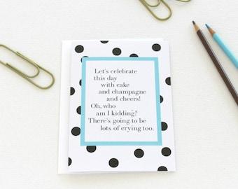 Wedding Congratulations Card, Graduation Card, Engagement Congrats Card, Just Married, Celebration Card, Proud Parents, New Baby Card - 146C