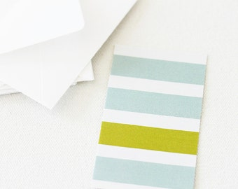 Mini Note Cards, Wine Gift Tags, Striped Mini Cards, Tiny Cards With Envelopes, Small Gift Card, Gift Enclosure Cards