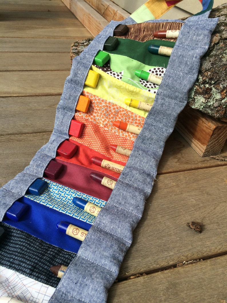 roll-up pouch-WITHOUT CRAYONS 12-Stockmar beeswax crayon roll for 12 blocks and sticks