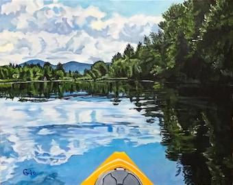 Kayak in Vermont lake