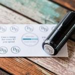 Custom Round Loyalty Card Mini Self Inking Stamp