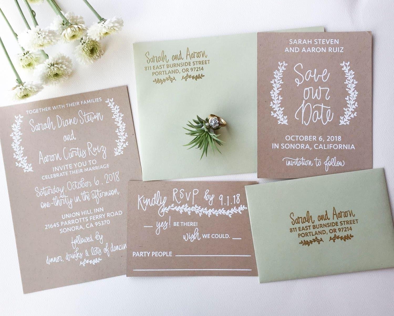 Wedding Invitation Stamp Suite Wedding Invitation Rsvp And Etsy
