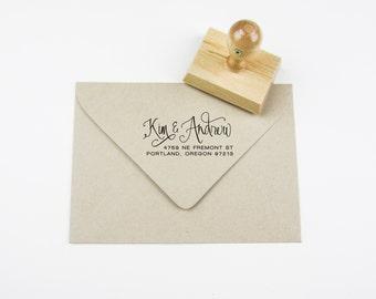Custom Calligraphy Address Stamp A0304