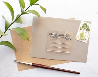 Please Deliver To Banner Addressing Stamp