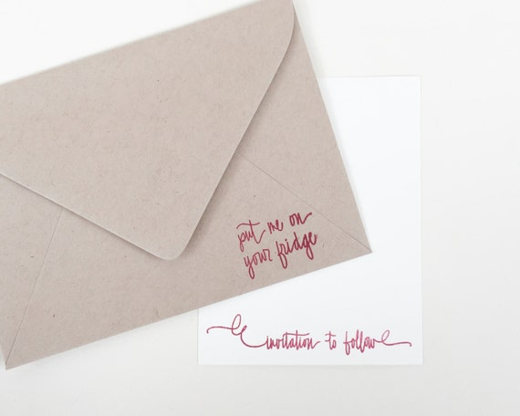 put me on your fridge stamp invitation to follow stamp etsy