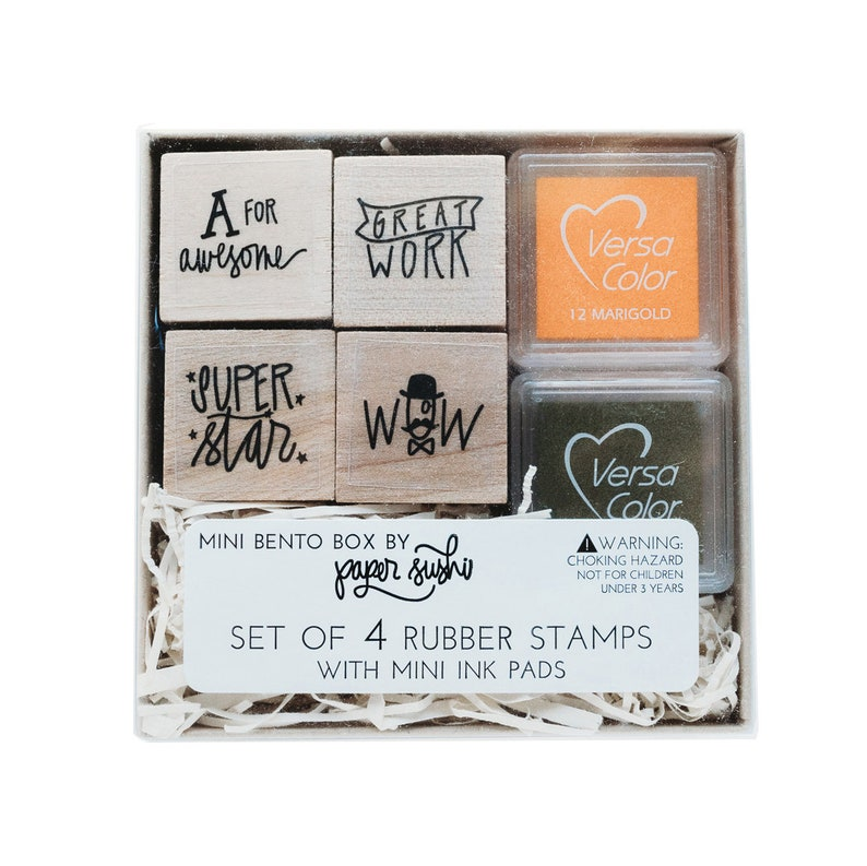 Teacher Stamp Set Gift Hand Lettered And
