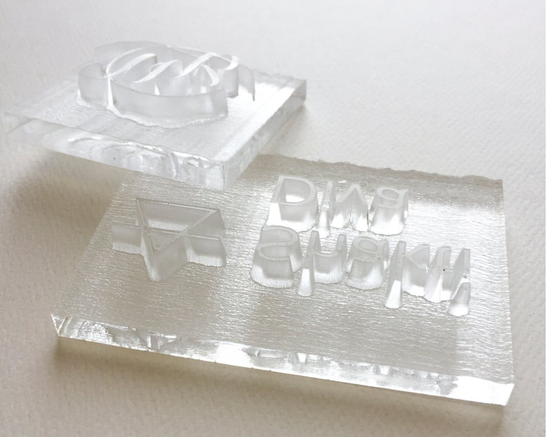 Acrylic Soap Stamp Custom Logo