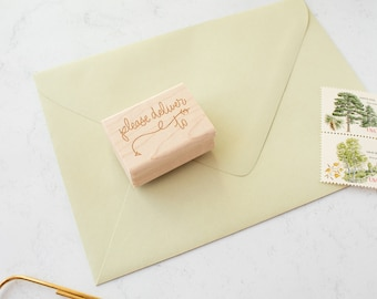 Please Deliver To Stamp - please deliver to - snail mail stamp - mail - rubber stamp - addressing stamp - K0020