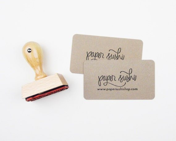 Mini Business Card Stamp Custom 2 Business Card Or Etsy