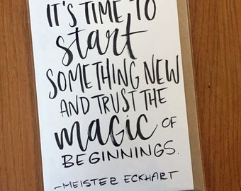 Meister Eckhart Quote-- prints or cards