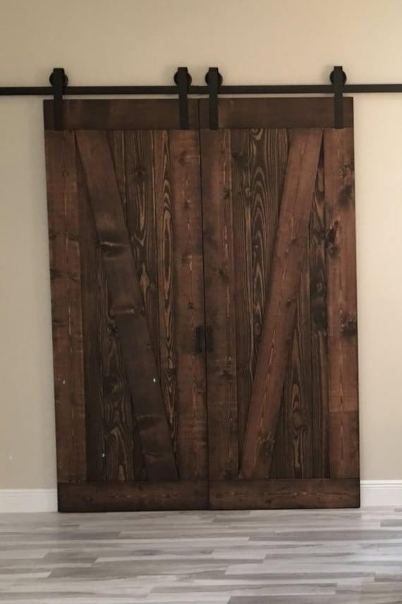 Double Barn Door Hardware Kit For Two Doors Etsy