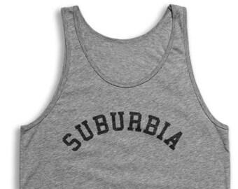Suburbia Tank Top - Vintage Tri-Blend Apparel For Men & Women