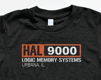 Hal 9000 T Shirt - Tri-Blend Vintage Apparel - Graphic Tees for Men & Women