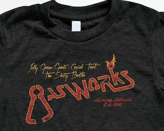 Gasworks Bar T Shirt - Tri-Blend Vintage Apparel - Graphic Tees for Men & Women