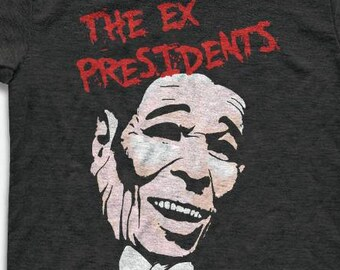 The Ex Presidents T Shirt - Tri-Blend Vintage Apparel - Graphic Tees for Men & Women