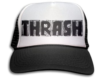 6782d19ddb4 Trucker Cap - Thrash Trucker Hat - Snapback Mesh Cap - Heavy Metal