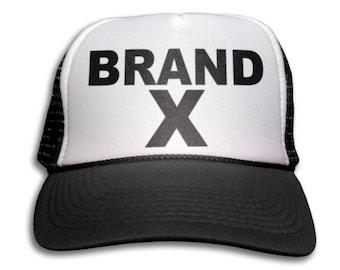 Trucker Cap - Brand X Trucker Hat - Snapback Mesh Cap