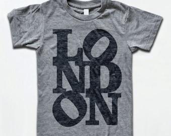LONDON T Shirt - Tri-Blend Vintage Apparel - Graphic Tees for Men & Women
