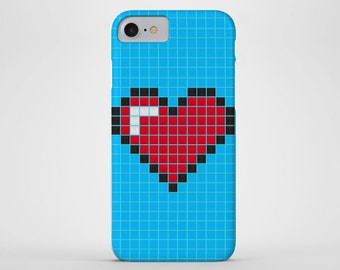 Love Heart Phone Case - iPhone & Samsung Galaxy Cases - Pixels, Tiles, Love Heart (All Sizes)