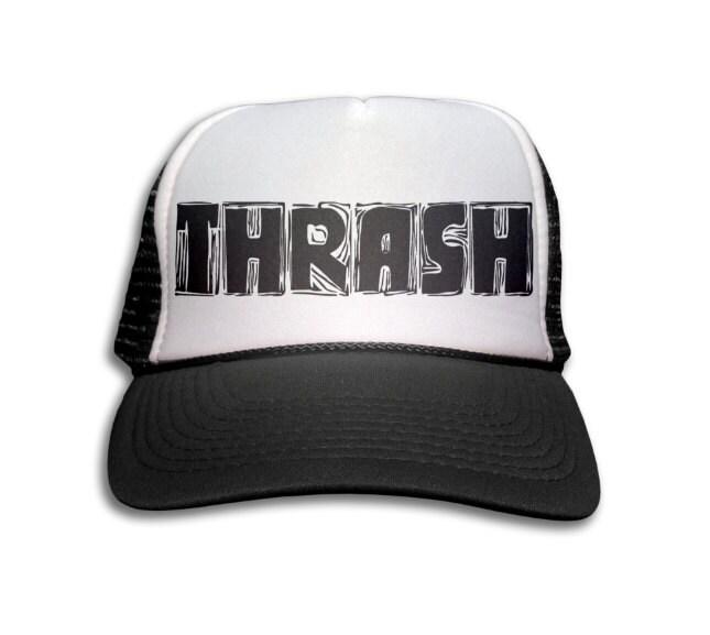 e73089297a8 Trucker Cap - Thrash Trucker Hat - Snapback Mesh Cap - Heavy Metal