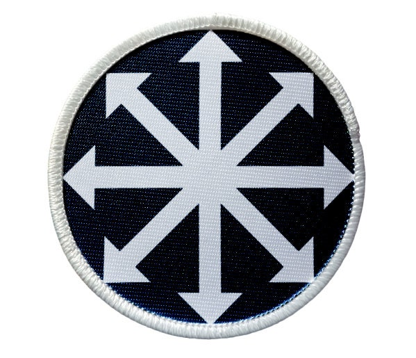Patch Chaos Symbol Heat Seal Iron On Patch For Jackets Shirts