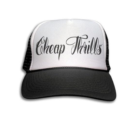 e14c42f247c Trucker Cap Cheap Thrills Hat Snapback Mesh Cap Rock