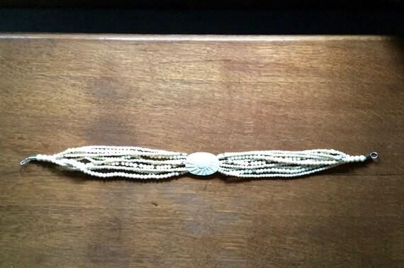 Vintage Celluloid Necklace, Celluloid Choker, Car… - image 5