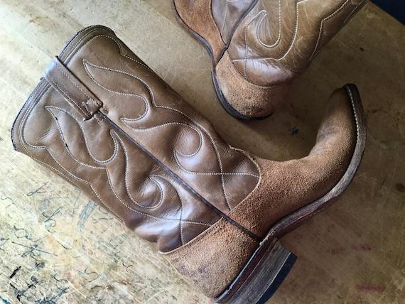 Vintage Western Cowboy Boots, Vintage Acme Leather
