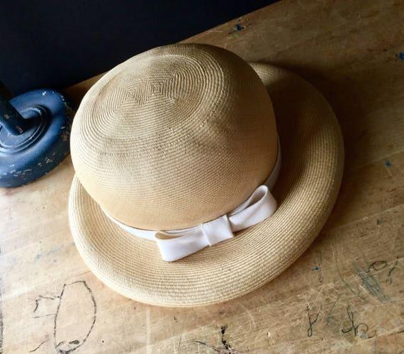 Vintage Straw Hat, Ladies Straw Hat, Spring Hat, … - image 2