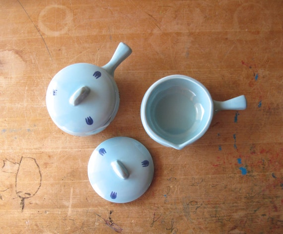 Blue Tulip Ovenware Cronin Cameron Clay Vintage Casserole