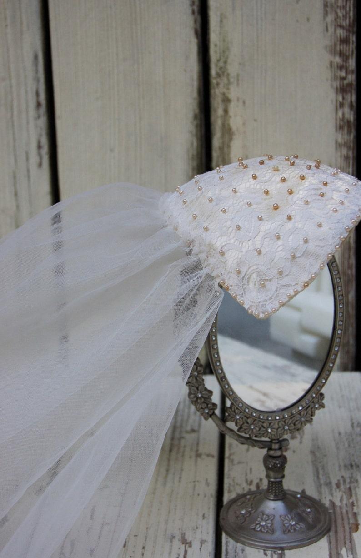 5ab6fb2a0 Sombrero velo Fascinator de boda. Tapa de velo de novia.