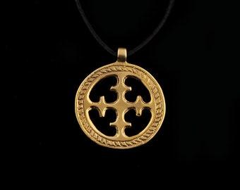 Viking Sun Cross Pendant