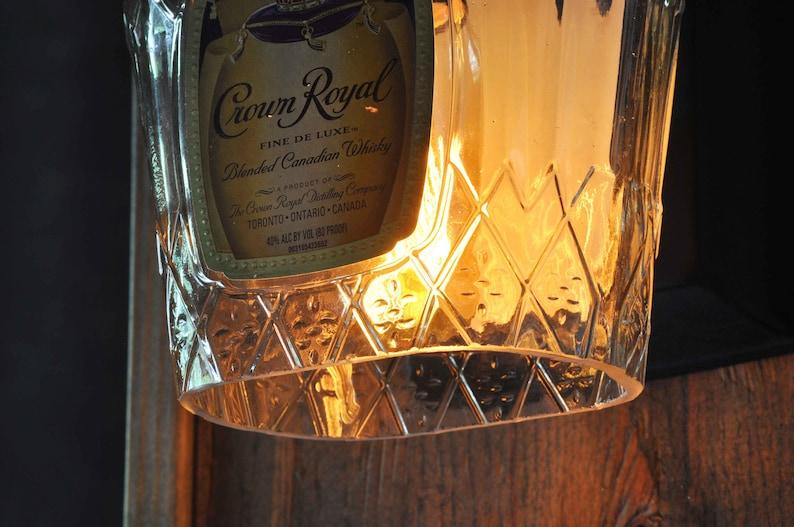Crown royal whisky bottiglia applique da parete con stile etsy