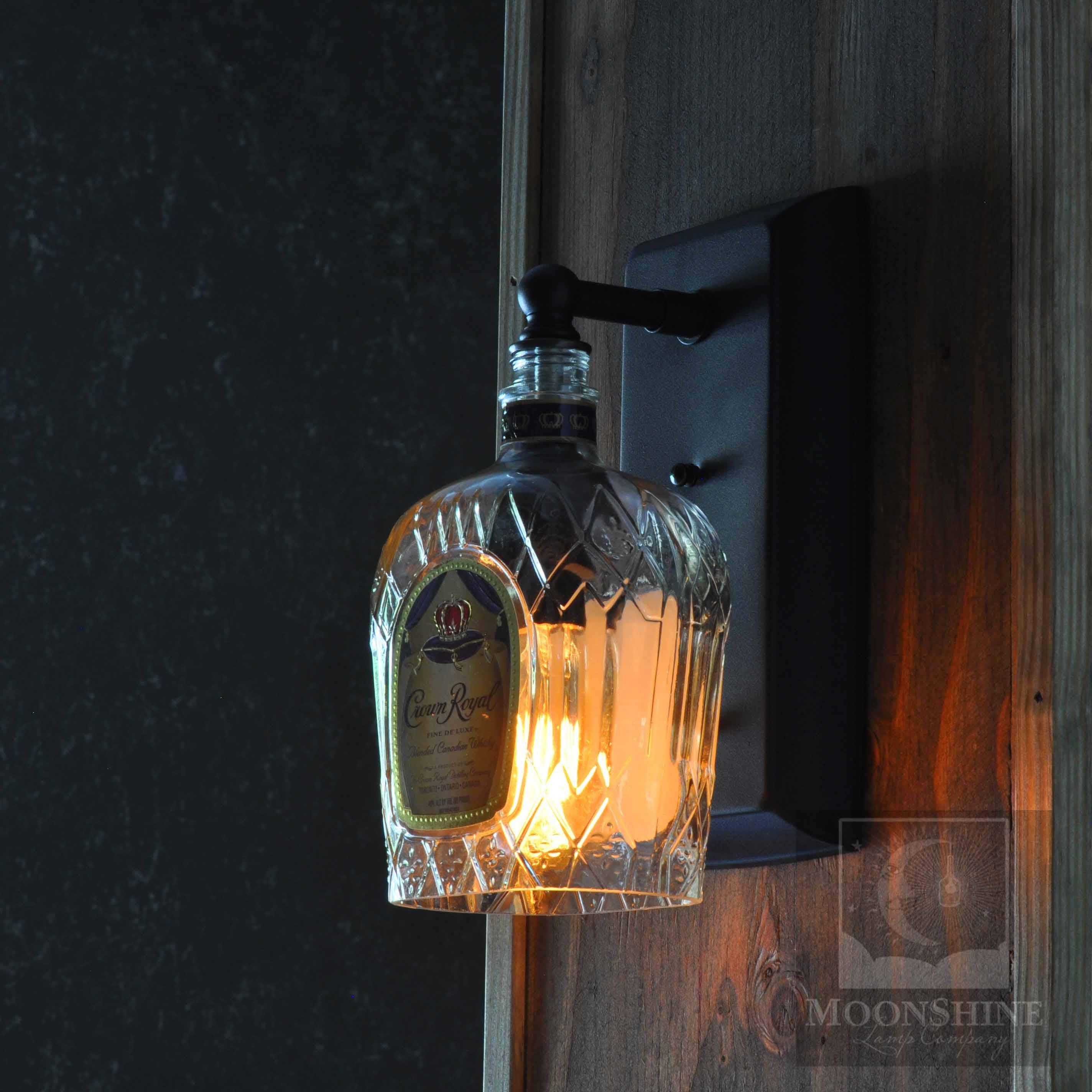 Skyrim Wall Sconces Not Working: Crown Royal Whiskey Bottle Wall Sconce With Vintage Style