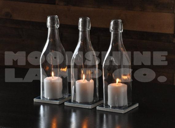 Platz Olivenöl Flasche Kerze Halter Tisch Mittelstücke | Etsy